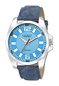 Laurels Gatsby Analog Blue Dial Men's Watch - Lo-Gt-203