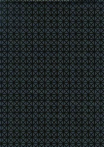 ecosoul 1,4m² Wachstuchtischdecke Andy Black Breite 140cm schwarz Garten Schutztischdecke Leinen Prägung (Meterware)