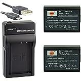DSTE LP-E10 Li-ion Batterie (2-Pack) et chargeur USB costume pour Canon EOS 1100D 1200D X50 X70 Rebel T3 Rebel T5