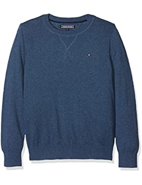 Tommy Hilfiger Ame Cotton Cashmere Cn Sweater L/S, Jersey para Niños