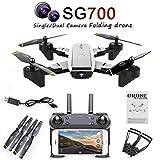 LHJCN Drone con Camara HD 1080p Y GPS Profesional Y Estabilizador Y GPS Pad Mini Pista Aterrizaje Oferta GPS Sigueme 8 Años En Adelante 4 K HD GPS Pad, White
