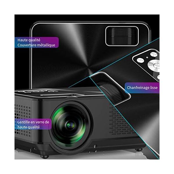 Vidoprojecteur-YABER-Mini-Projecteur-Portable-4000-Lumens-Rsolution-Native-1280720p-Retroprojecteur-avec-Haut-parleurs-Stro-HiFi-Couvercle-en-Mtal-Supporte-HDMI-USB-VGA-AV
