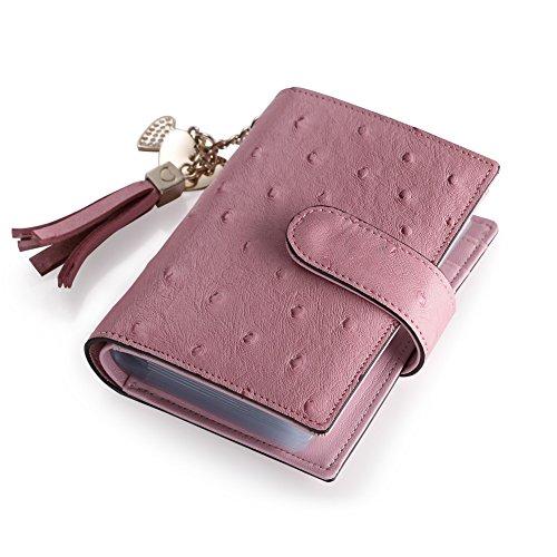Teemzone Neu Leder Scheckkartenetui Kreditkartenetui Visitenkartenetui Mit Quasten Kartenetui Kartenmappe Kreditkartenhülle Ausweisetui Börse Für Damen Im Trend Rosa (Pink)