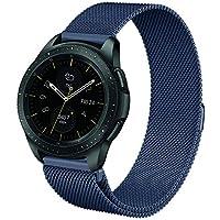 Fintie Armband für Galaxy Watch 42mm & Gear Sport & Gear S2 Classic - Edelstahl Milanese Magnet UhrBand Uhrenarmband Ersatzband (Blau)
