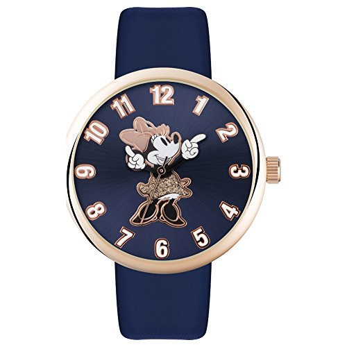 Disney Adult Minnie Maus Roségold blauen Bügel MN1471