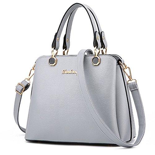 fanhappygo Fashion Retro Leder Damen elegant Anhänger taschen Schulterbeutel Umhängetaschen Abendtaschen grau