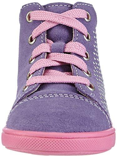 Richter Kinderschuhe Sing 0124-521 Baby Mädchen Lauflernschuhe Violett (lavender/iron  4001)