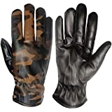AutoKraftZ Water Resistant,Warm Fur Inside 1 Pair Soft Leather Gloves for Boys & Girls