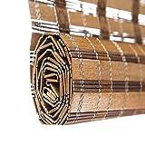 ZEMIN Bambus Rollo Bambusrollo Jalousette Venezianisch Schatten Innen/Außen Installieren Anpassbar Entwurmung Desinfektion Handhebend, 3 Farben, 23 Größen (Farbe : #1, Größe : 90x200CM)