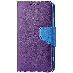 Reiko 3en 1Housse Etui Coque Portefeuille pour ZTE N9520, ZTE Boost Max-Emballage Individuel-Violet