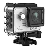 SJCAM SJ5000X Elite WiFi Action Camera, 4k@24FPS Underwater Video Camera- Gyro Stabilization/2' Large LCD Screen/Sony Sensor, 30M Waterproof with Case (Included)- Silver