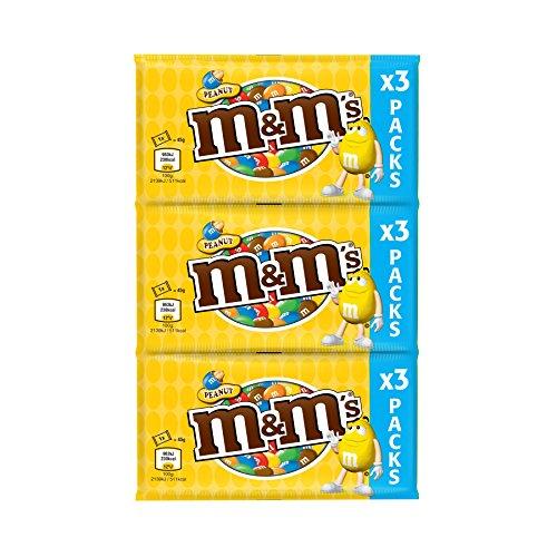 M&M's Chapelet de Sachets de Cacahuètes/Chocolat au Lait - Lot de 6
