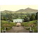 Victorian View de Powerscourt, Sugar Loaf Mountain, County Wicklow, Irlanda, gran A3tamaño 41por 28cm lienzo texturizado fino arte papel foto impresión