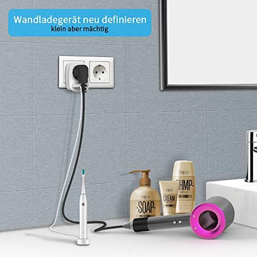 TESSAN Enchufe USB pared,  Ladron Enchufes(4000W) con Doble Puertos USB y 1 Toma de CA Schuko,  Cargador USB de Pared Adaptador Frances , Enchufe de Pared- Blanco