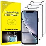 JETech 3 Pacco Pellicola Protettiva Compatible iPhone XR, 6,1 in Vetro Temperato