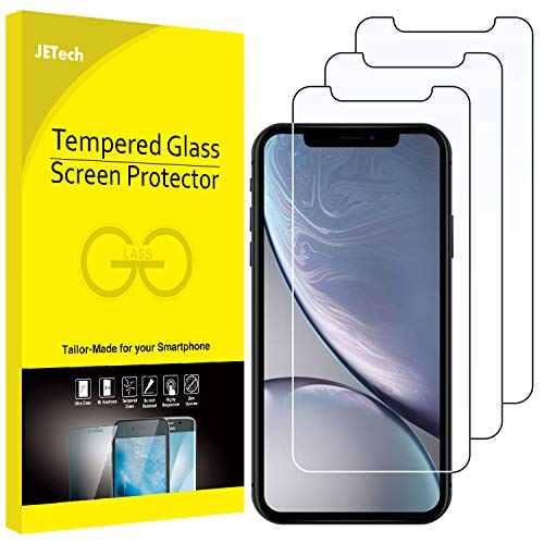 JETech 3-Pack Screen Protector for iPhone XR 6.1-Inch, Tempered Glass Film