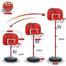Soporte para canasta de baloncesto, Finer tienda niños Baloncesto Deporte portátil plástico tablero baloncesto soporte baloncesto portátil juntas 63–150cm (24* 59in)