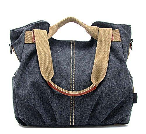 2015 Frauenhandtasche Schultertasche Messenger Tasche Frisches Design Tasche Schwarz