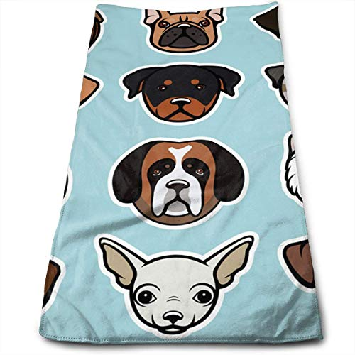 Osmykqe Dogs Microfiber Personalized 3D Design Pattern Towel, Can Be Used for Hair Towel, Beauty Towel, Sports Towel, Car Towel, Furniture Towel,12x27.5'in