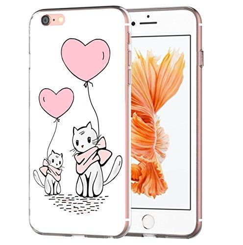 blitzversand Handyhülle Crazy VERRÜCKT kompatibel für Samsung Galaxy S5 Mom Cat & Baby Cat Schutz Hülle Case Bumper transparent rund um Schutz Cartoon M6