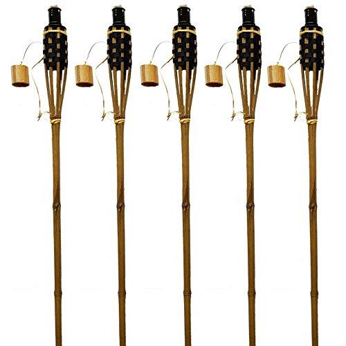k-f-lot-de-48bambou-torche-de-jardin-120cm-bois-marron-avec-noir-huile-flambeaux-avec-torche-flamme-