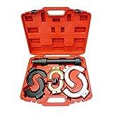 Todeco - Coffret Compresseur à Ressort, 11 Pièces de Réparation pour Compresseur à Ressort - Matériau: Acier C45 - Taille de la valise: 50 x 39 x 12 cm - avec une mallette rouge, 8 pièces