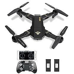 Kingtoys XS809W Selfie RC Drohne Quadcopter mit Kamera 2MP WiFi FPV Drohne, 2.4G 4CH 6-Achsen Gyro 3D Rollen Quadcopter ,Fernbedienung & APP Control Kopfloser Modus Höhenhaltungsmodus, 2 Akkus