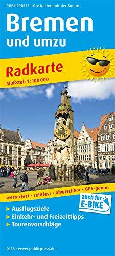 Bremen und umzu: Radkarte mit Ausflugszielen, Einkehr- & Freizeittipps, wetterfest, reissfest, abwischbar, GPS-genau. 1:100000 (Radkarte / RK)