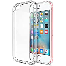 iPhone SE Funda, iVoler Apple SE 5 5S TPU Silicona Case Cover Dura Parachoques Carcasa Funda Bumper para Apple iPhone SE/5/5S, [Ultra-delgado] [Shock-Absorción] [Anti-Arañazos] [Transparente]- Garantía Incondicional de 18 Meses