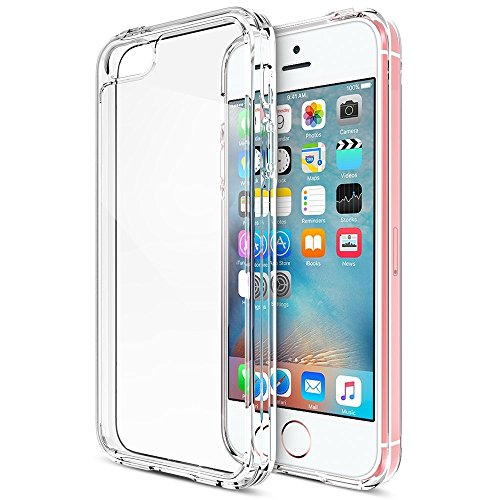 Coque iPhone Se / 5 / 5S, iVoler [ Ultra Transparente Silicone en Gel TPU Souple ] Housse Etui Coque de Protection avec Absorption de Choc et Anti-Scratch pour iPhone Se / 5 / 5S