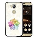 WoowCase Huawei GX8 / G8 Hülle, Handyhülle Silikon für [ Huawei GX8 / G8 ] Bunte Mandala Handytasche Handy Cover Case Schutzhülle Flexible TPU - Schwarz