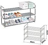EUGAD 3 Ebene XXL Schuhregal für 15 Paar Schuhe