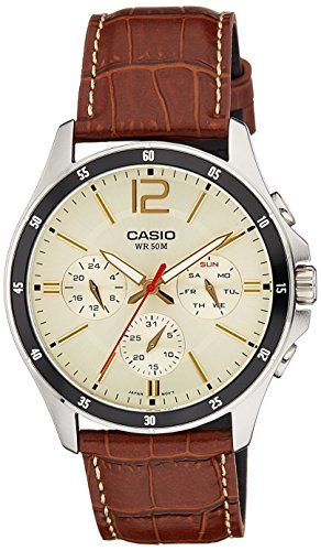 Casio Enticer Analog beige Dial Men's Watch - MTP-1374L-9A2VDF (A1046)