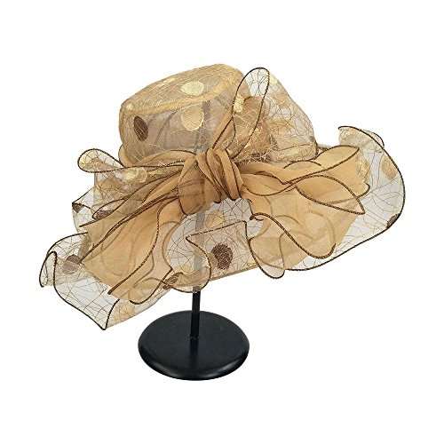 AOLVO Damen Organza Kirche Derby Fascinator Hat