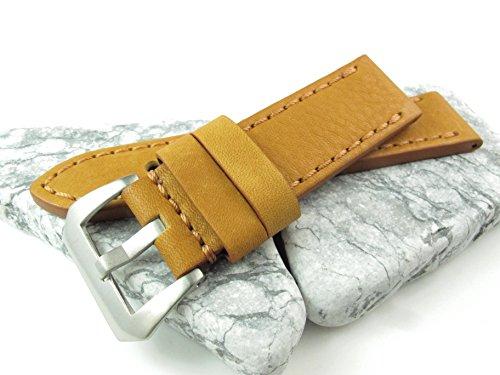 24mm Italien Genuina Leder Uhrenarmband Vintage Classic Tan New Design Armband LS1126
