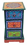 #10: Paheli Craft Antique Rajasthani Pink City Jaipur Unique Traditional Wooden Handmade Handicraft Side Drawer 3 Decorative Gift Item Home / Table / Wall Decor Showpiece / Figurine 002