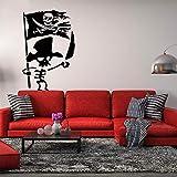 stickers muraux pissenlit Jolly Roger Skeleton Skull Enfants Chambre Funny Cratoon