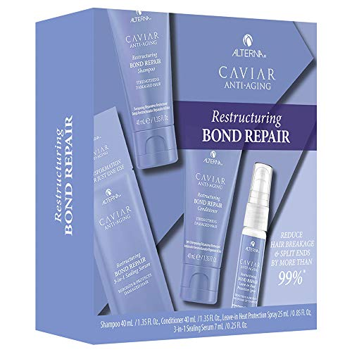 Scheda dettagliata Alterna Caviar Restructuring Bond repair Trial kit Shampoo 40ml Conditioner 40ml Spray 25ml Serum 7ml