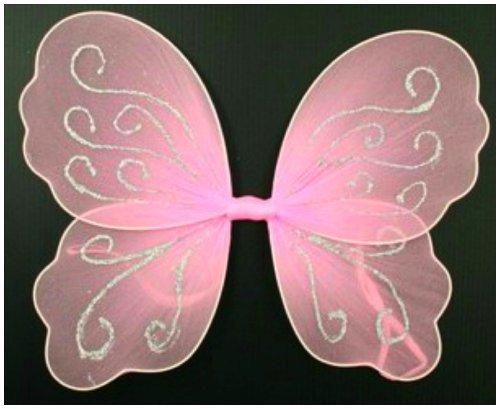 Kleine Rosa Butterfly Angel Glitzer Feenflügel für mädchen / kinder (Kinder Und Kleinkind Schmetterlings Feen Kostüm)
