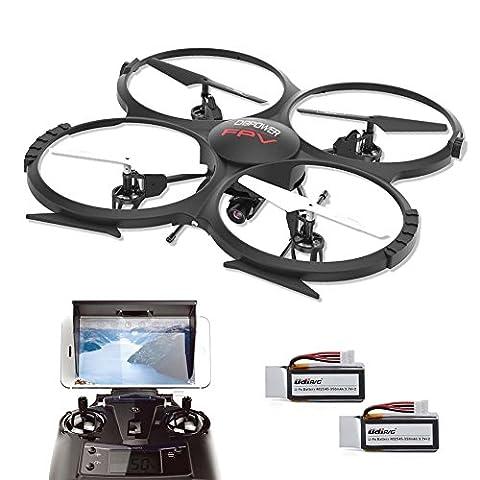U818A WIFI FPV Drone 720P HD Camera Quadcopter with Headless Mode 3D Flip - Easy Control for Beginners - Include Bonus