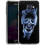 Samsung Galaxy A3 (2016) Housse Étui Protection Coque Halloween Crâne Fumée