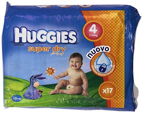 Huggies - Super Dry - Pañales - Talla 4 (7-14 kg) - 17 pañales