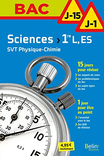 Sciences 1ère L, ES par Collectif