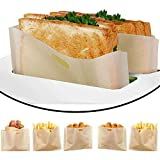 DECARETA 6pcs Toaster Bags Reusable Toaster Storage Bags Non-Stick Snacks Bags Toastie Sandwich Bags Snacks Toast Bags with Panini Garlic Toast Bagel for Microwave Oven Toaster Grill Griddle