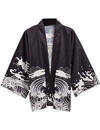 GRACEART Damen Kimono Schwarz schwarz