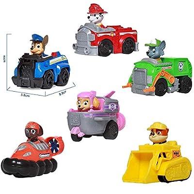 ONOGAL Lote Completo de Personajes de La Patrulla Canina Vehiculos de Rescate y Personajes Chase Zuma Rocky Marshall Skye y Rubble Paw Patrol 4176b por ONOGAL