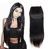 """4x4 """" Free Part Lace Closure Straight Human Hair Extensiones de cabello humano Virgen Cierre recto ,sin procesar brasileña virgen extensiones de cabello humano liso cierre frontal 30cm"""
