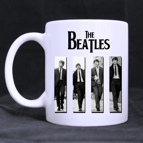 Logo-rockband (LaHuo English Rock Band The Beatles Logo Custom Design Morphing Mug Coffee Tea Cup 11 OZ)