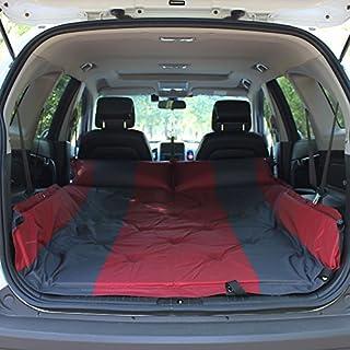 ASL Im Freien Einzelnes Doppeltes SUV Automatisches aufblasbares Matratze-Auto-Bett-aufblasbares Bett-Auto-Bett-Auto-Schlag-aufblasbares Kissen Qualität ( Farbe : Rot , größe : 192*132CM )