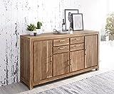 Wolf Möbel Sideboard Creed 180 cm Akazie Stone 4 Türen 4 Schübe